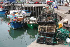 Portavogie Lobster Pots Stock Photos