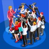 Portavoz Vector Isometric People de Infographic de las noticias de la elección libre illustration
