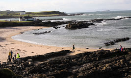 Portballintrae Northern Ireland. Beautiful beach at the North Coast of Northern Ireland Royalty Free Stock Photography