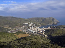 Portbou. City view in the borderline of spain and France Royalty Free Stock Photography