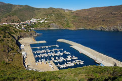 PortBou Marina in the Costa Brava Spain Stock Image