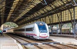 PORTBOU, SPAIN - NOWEMBER 09: High-speed Renfe train on November Stock Photo
