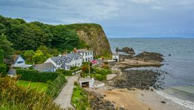 Portbradden, small villagenear Ballintoy, County Antrim, Northern Ireland. Stock Photography