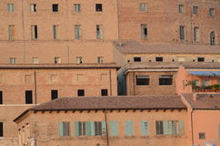 Portbyggnader i Ancona italy Arkivbild
