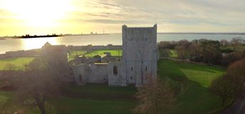 Portchester城堡 图库摄影