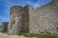 Portchester kasztel, Hampshire, Anglia, UK obraz royalty free