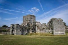 Portchester-Schloss, Hampshire, England, Großbritannien stockfotografie
