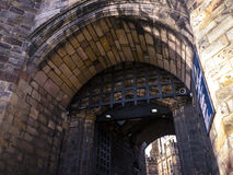 Portcullis of Lancaster Castle and the former Prison in England is in the Centre of the City Stock Images