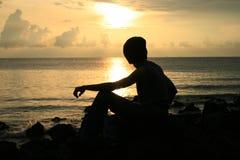 PortDickson Sonnenuntergang Stockfotografie