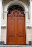 Porte à l'église Photo libre de droits