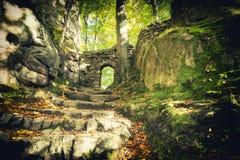 Porte à la forêt enchantée Photos libres de droits