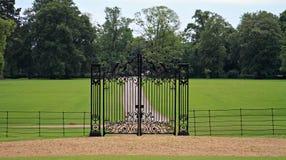 Porte à la maison de pays Photo stock