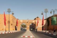 Porte à la vieille ville de Marrakech Photo stock