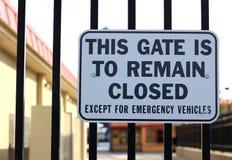Porte à rester fermée Images libres de droits
