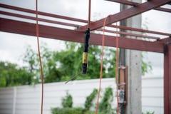 porte-électrode avec le fil d'électrode ci-joint Images libres de droits