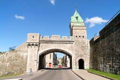 Porte Άγιος Louis στην πόλη του Κεμπέκ, Καναδάς στοκ φωτογραφίες με δικαίωμα ελεύθερης χρήσης