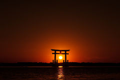 Porte 01 du Japon de coucher du soleil Photo stock