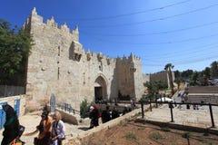 Porte antique de Damas, Jérusalem, Israël Image stock