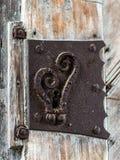 Porte antique, trou de la serrure - 5 Photographie stock