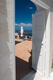 Porte aperte sul balcone Fotografia Stock