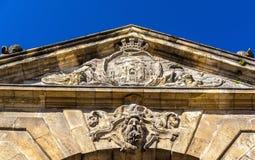 Porte δ ` Aquitaine, μια XVIII πύλη αιώνα στο Μπορντώ, Γαλλία Στοκ εικόνες με δικαίωμα ελεύθερης χρήσης