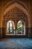Porte arabe con i dettagli sulla parete e sulle porte, handcra Fotografie Stock Libere da Diritti