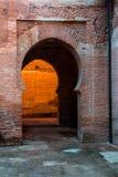 Porte arabe con i dettagli sulla parete e sulle porte, handcra Immagini Stock Libere da Diritti