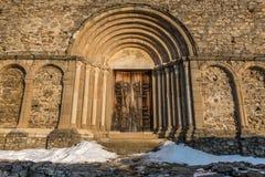 Porte arquée d'église Photo stock