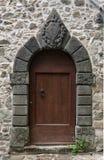 Porte arquée par pierre Photo libre de droits