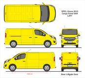 Porte arrière 2015 de hayon de camionnette de cargaison d'Opel Vivaro L2H1 illustration libre de droits