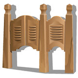 Porte articulée dans la taverne Intérieur dans le style occidental sauvage Photo libre de droits