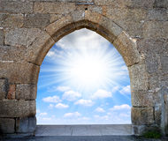 Porte au ciel Photo stock