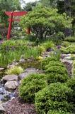 Porte au jardin japonais Images libres de droits