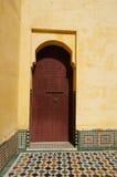 Porte au mausolée de Moulay Ismail images libres de droits