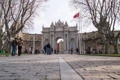 Porte au palais de dolmabahce d'entrée Photographie stock libre de droits