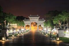 Porte au temple de PO Lin, Hong Kong Photographie stock libre de droits