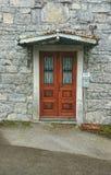 Porte avec des gouttières Photo libre de droits
