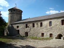 Porte avec des tours et des fortifications, Kamianets-Podilskyi, Ukraine Photographie stock