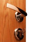 Porte avec la clé Images stock