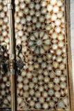 Porte avec la nacre Photographie stock