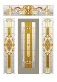 Porte avec un verre coloré Images libres de droits