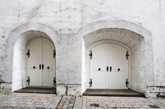 Porte bianche Fotografia Stock