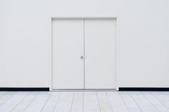 Porte bianche Immagini Stock