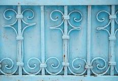 Porte bleue de fer Image stock