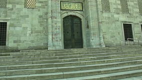Porte bleue de mosquée, Istanbul Photo stock