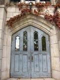 Porte bleue de vintage Photographie stock