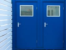 Porte blu Colourful Immagini Stock