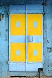Porte blu e gialle Immagine Stock