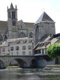 Porte Bourgogne, Moret-sur-Loing ( France ) Stock Image