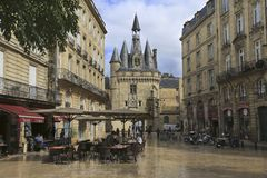 Porte Cailhau, aquitaine, Γαλλία στοκ φωτογραφία